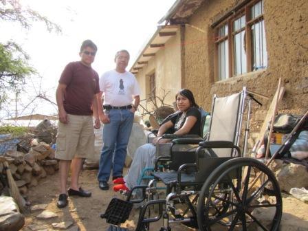 Silla de ruedas donada por Gonzalo Ruiz Sanchez